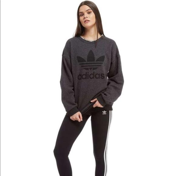 e706ea3d4990 Adidas Originals Trefoil Crewneck Sweatshirt Grey